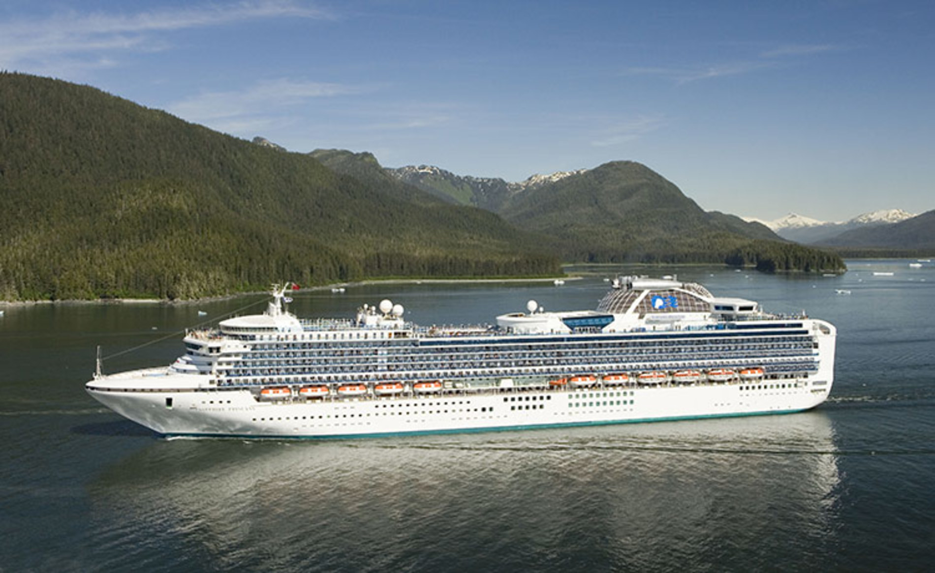 A photo of the Sapphire Princess cruise ship