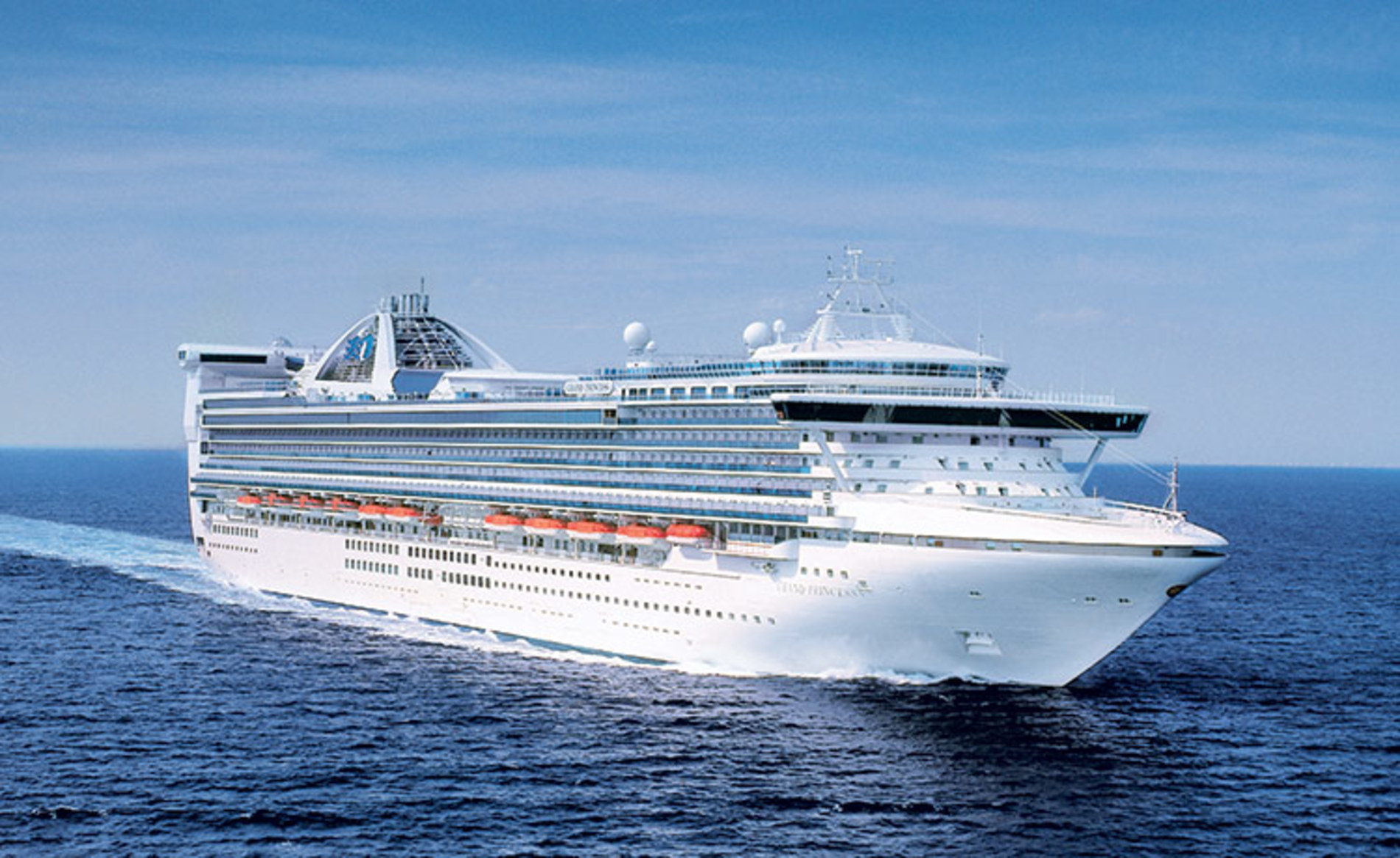 A photo of the Golden Princess cruise ship